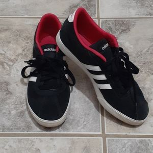 Red Bottoms Adidas Neo Suede Sneakers